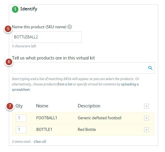 Adding SKUs to your Virtual Kit