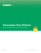 Personalize your delivery - Order fulfillment guide