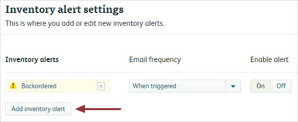 Inventory Alert 2