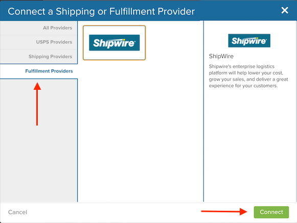 Selecting Shipwire